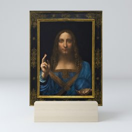 12,000pixel-500dpi - Leonardo da Vinci - Salvator Mundi - Digital Restored Edition Mini Art Print
