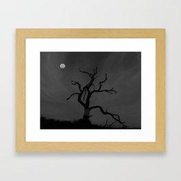 Full Moon On The Slopes Of Mauna Kea. Framed Art Print
