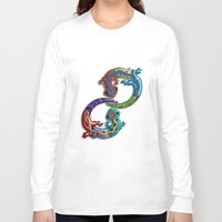 techno Long Sleeve T-shirts featuring Techno Geckos by Illustrated Light and Color