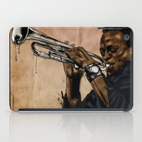 miles davis iPad Cases featuring Miles, jazz will never be the same by The Art Warriors
