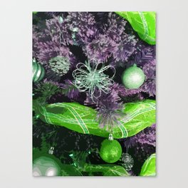 Christmas Tree - Purple Green Canvas Print