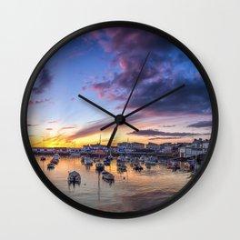 Portrush Harbour,Ireland,Northern Ireland Wall Clock