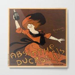 Vintage poster - Absinthe Ducros Fils Metal Print