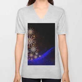 Christmas Eve Winter Xmas Tree Lights Celebration Unisex V-Neck