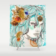 Mermaid Hair Shower Curtain