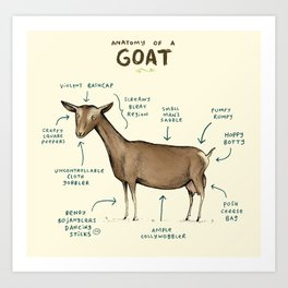 Anatomy of a Goat Art Print