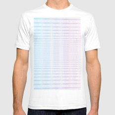 Circle Gradient MEDIUM Mens Fitted Tee White