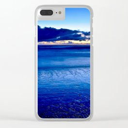 BLUE SILENCE of the SEA Clear iPhone Case