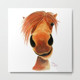Happy Horse ' GINGER NUT ' by Shirley MacArthur Metal Print