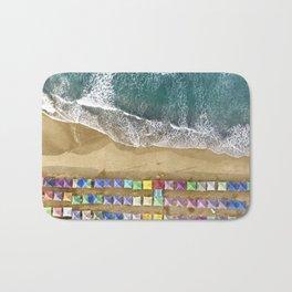 Aerial view of the beach in Mexico Bath Mat