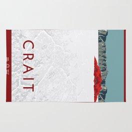 Crait Travel Poster Rug