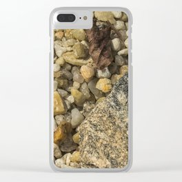 Rocks and Peebles Clear iPhone Case