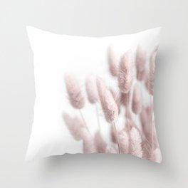 Pink Bunny Tails Throw Pillow