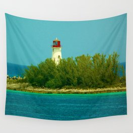 Lighthouse by the Ocean Wall Tapestry