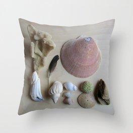 Little Beach Curiosity Collection 1 Throw Pillow