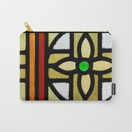 Retro Colorful Blocks Background Pattern Cutest Carry-All Pouch