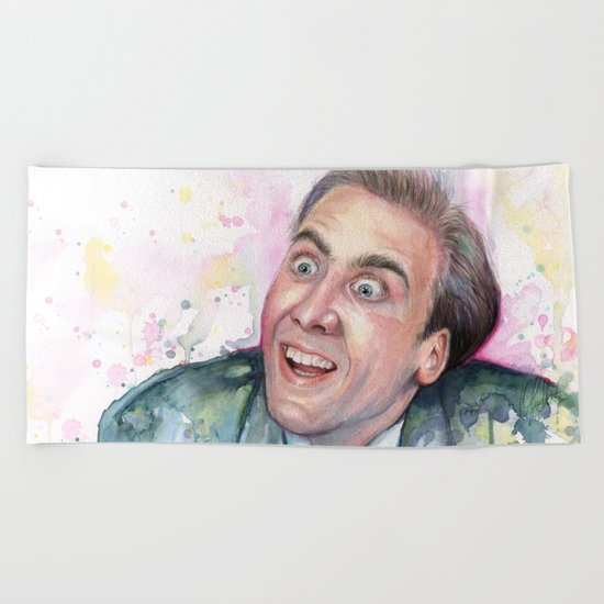 Nicolas Cage You Don't Say Geek Meme Nic Cage Beach Towel