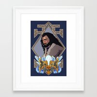 thorin Framed Art Prints featuring Thorin  by Inkforwords
