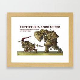The Dragon Slayer and The Executioner, from Dark Souls Framed Art Print