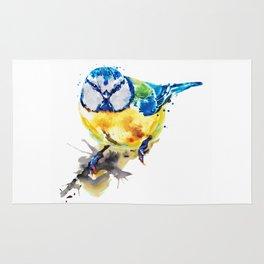Tiny Colorful Bird Rug