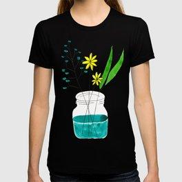 mason jar flower arrangement T-shirt