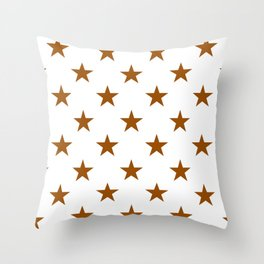 Stars (Brown/White) Throw Pillow