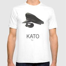 KATO Mens Fitted Tee White LARGE