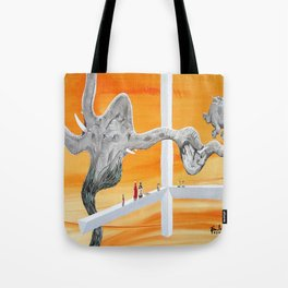 Pachyderm Cannibalism Tote Bag