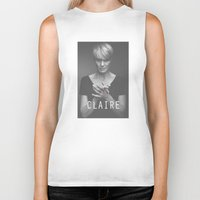 frank underwood Biker Tanks featuring Claire Underwood / House of Cards by Earl of Grey