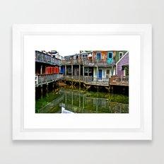 Color on the Back Bay Framed Art Print
