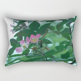 a rose Rectangular Pillow