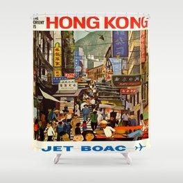 Vintage poster - Hong Kong Shower Curtain