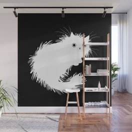 Moggy (No.2) white version Wall Mural