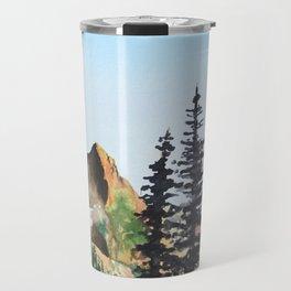 Red Mountain Landscape Travel Mug