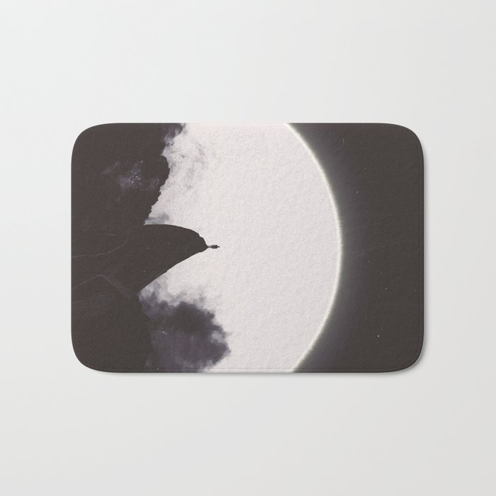 Abaddon Black & White Bath Mat