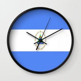 flag of nicaragua-america,south,latine,spanish, Nicaraguans,Managua,Matagalpa,leon Wall Clock