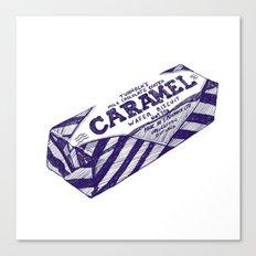 Caramel wafer pen drawing (blue) Canvas Print