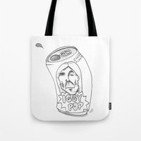 iggy Tote Bags featuring IGGY POP by Stupid Little Squares