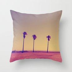 Four Palms In Paradise Throw Pillow
