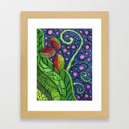 Cosmic Beanstalk Framed Art Print