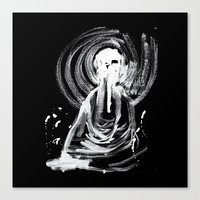 cthulu Canvas Prints featuring Cthulu in Abstraction by Parker Winans