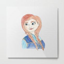 Anna Frozen Metal Print