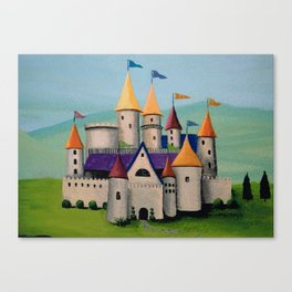 Kids Storybook Castle by the Water Canvas Print