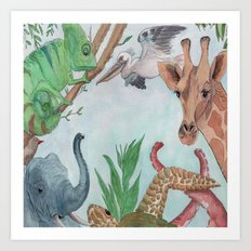 Animals of the World Art Print