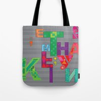 typo Tote Bags featuring typo by nuage rouge