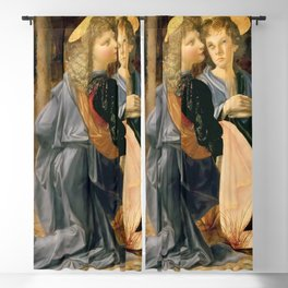 "Andrea del Verrocchio and Leonardo da Vinci ""Baptism of Christ"" - angels Blackout Curtain"