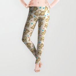 Sloth Pattern, Lazy Sloths, Slow Sloths, Hearts Leggings