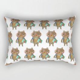 Back To School Bear Rectangular Pillow