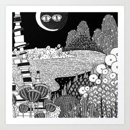 Botanical Doodle 3/3 Art Print