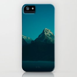 Magical Blue Mountains Star Night Sky Ombre Sunset iPhone Case